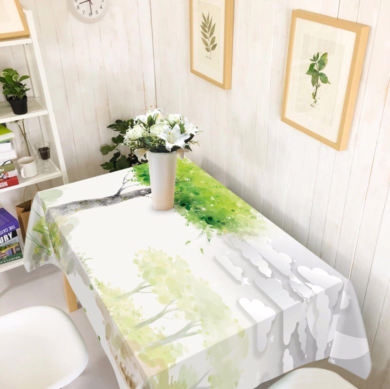 3D Tree 67 Tablecloth Table Cover Cloth Birthday Party AJ WALLPAPER UK Lemon