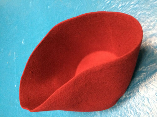100/% Wool Felt Traditional Moroccan Fez with Stem by Tails and the Unexpected