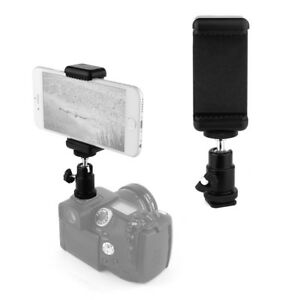 Cell-Phone-Smartphone-to-DSLR-Mount-Adapter-Holder-w-Adjustable-Angle-and-Size