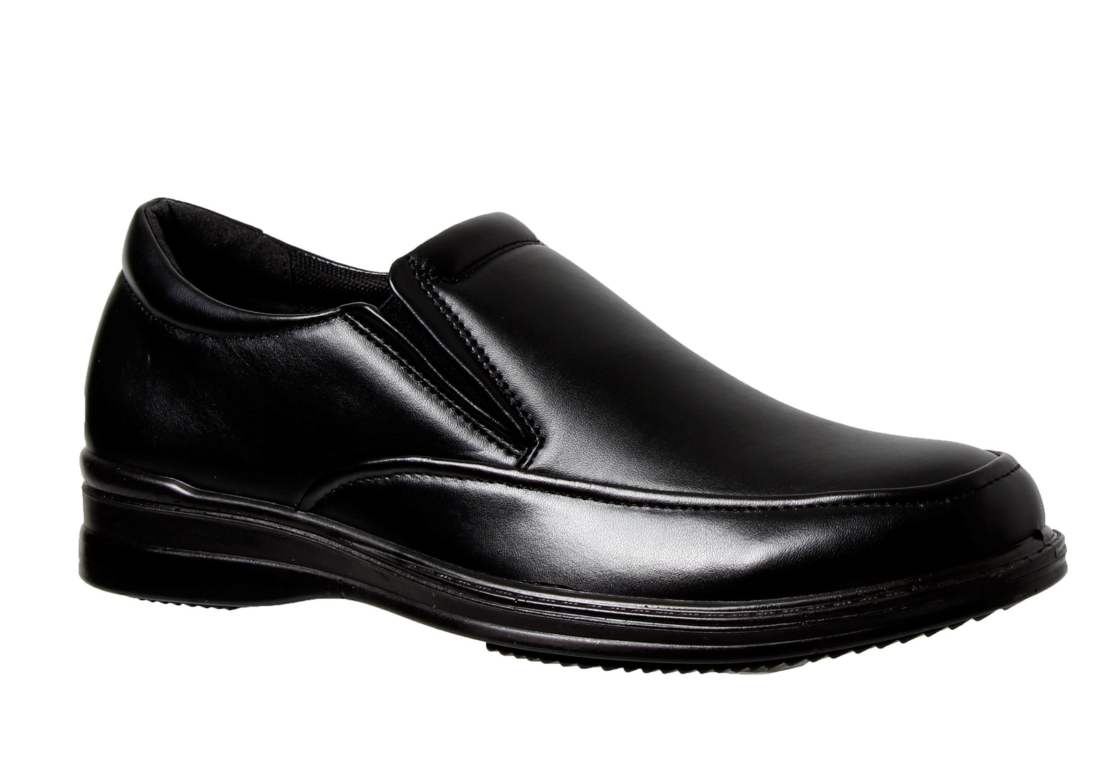 Mens Grosby Becker Black Slip On Work Dress Formal Comfortable Lightweight shoes