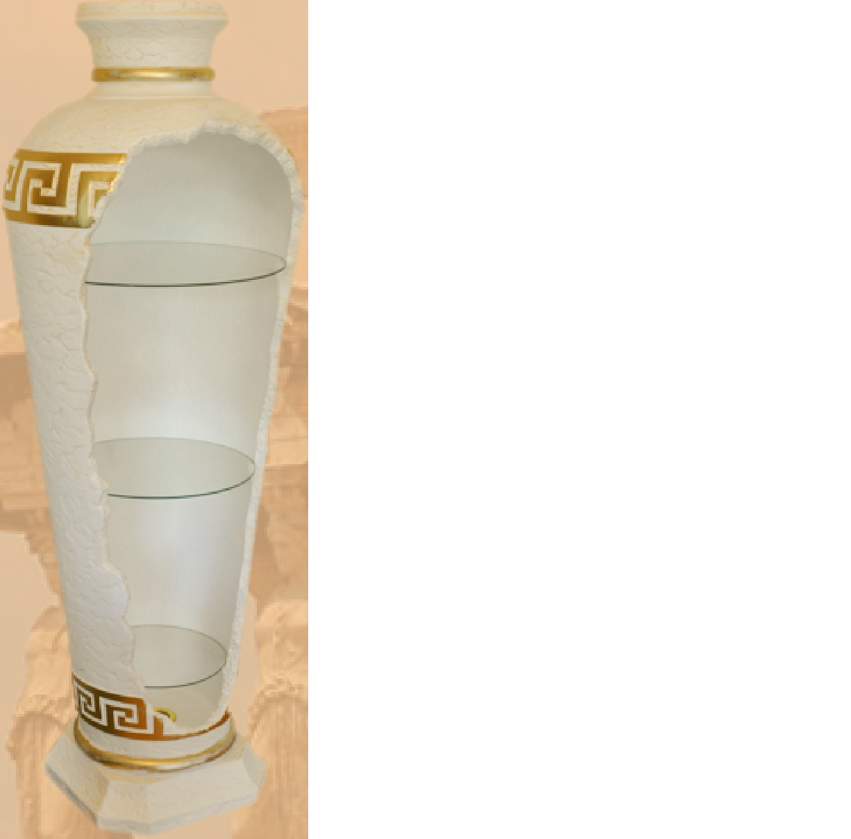 Design Bar vasenbar étagère Verre Lampe Vase Armoire vitrine 6966 nouveau