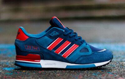 adidas Originals Mens ZX 750 Trainers Navy/Red Sneakers | eBay