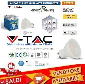 LAMPADINA-V-TAC-A-RISPARMIO-ENERGETICO-FARETTO-LED-5-W-LUCE-CALDA-GU10-110-GRADI