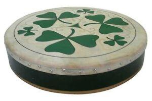 Irish Bodhran mit SHAMROCK Logo, 18 x 3,5 Zoll, B-Ware