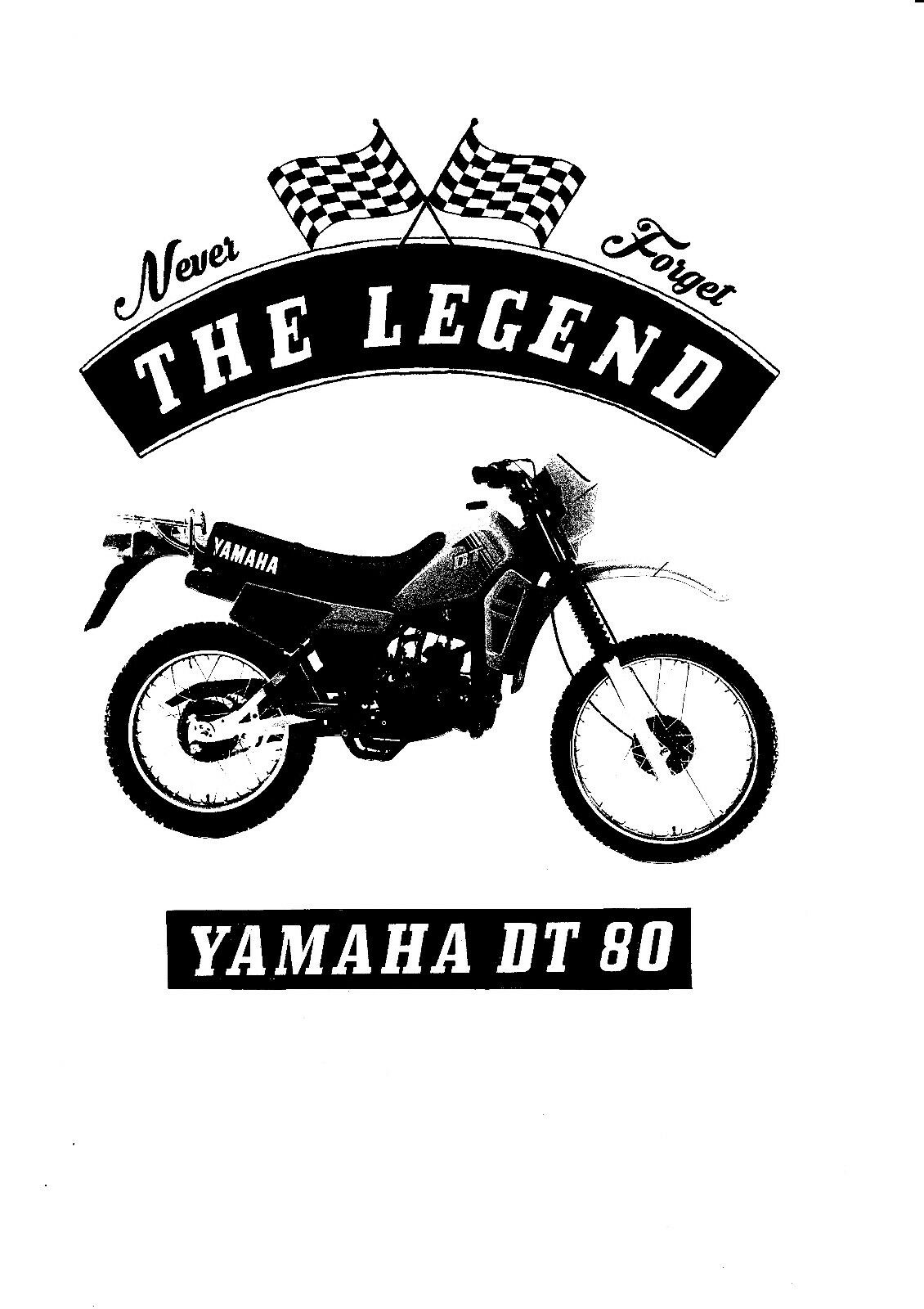 Youngtimer T-Shirt Oldtimer Bike Moto Yamaha Rd 125