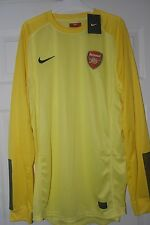 ARSENAL PLAYER ISSUE GOALKEEPER SHIRT YELLOW SIZE XL LONG SLEEVE VERY RARE