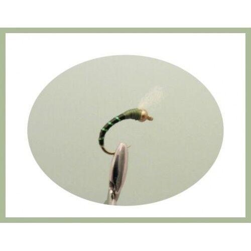 Buzzer Flies 6 Pack Goldhead UV Olive Glass Epoxy Buzzers Choice of sizes