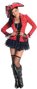 Pirate Captain Damenkostum Piratin Piratenbraut Karneval Fasching S