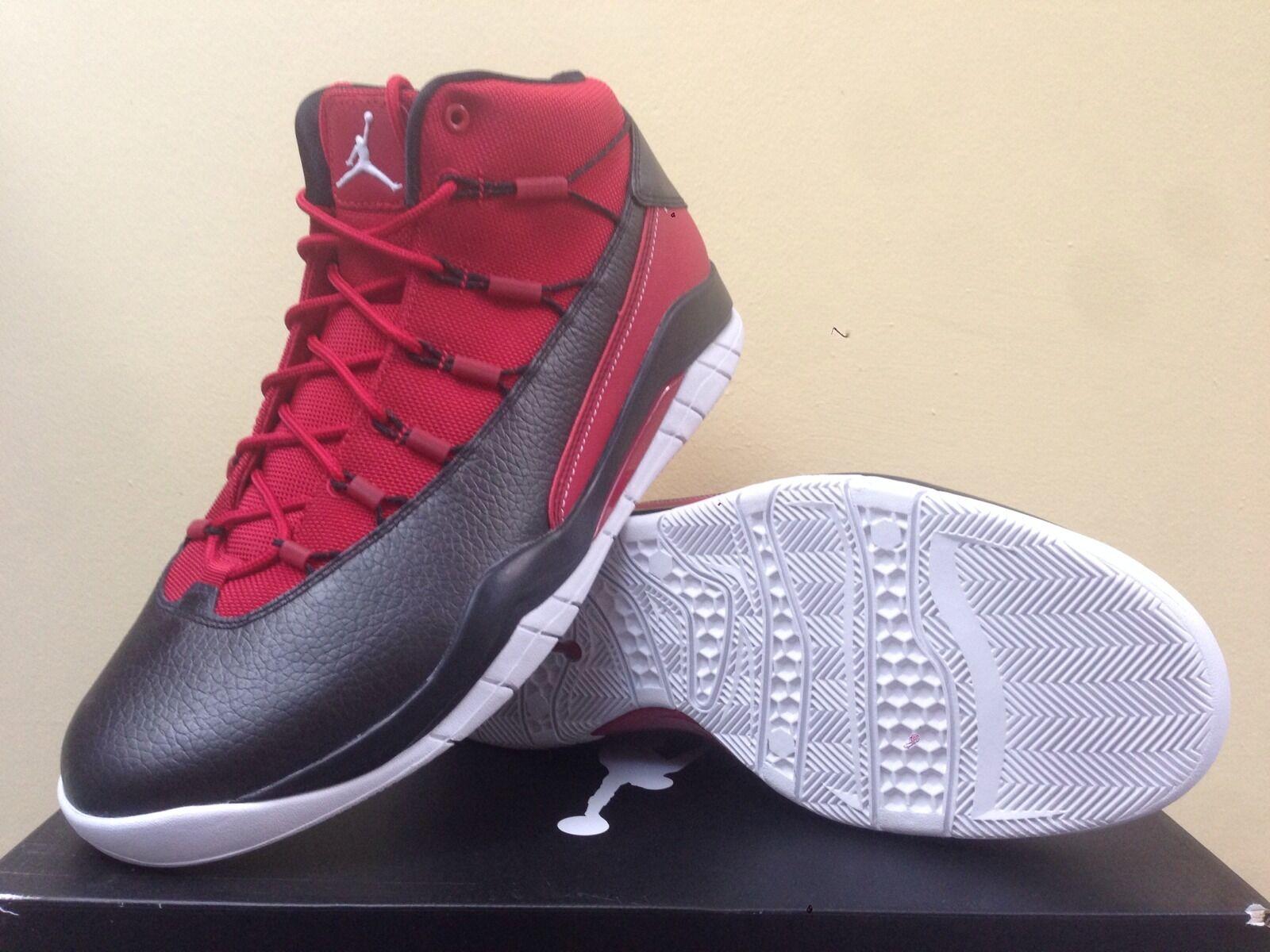 Nike air jordan il primo volo (nero / rosso) che gli uomini ci taglia 9 pennino