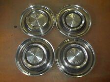 """1958 58 Pontiac Hubcap Rim Wheel Cover Hub Cap 14"""" OEM USED SET 4"""