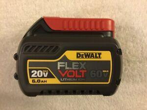 60V Max 6.0Ah Lithium Ion Batteries Li-ion 2 New Dewalt DCB606 Flexvolt 20V