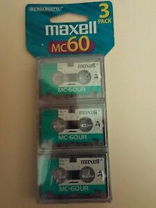 Pack of 9 Brand New Maxell MC-60 UR Microcassettes