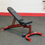 Body-Solid-Adjustable-Incline-Decline-Flat-Weight-Bench-w-Wheels thumbnail 1