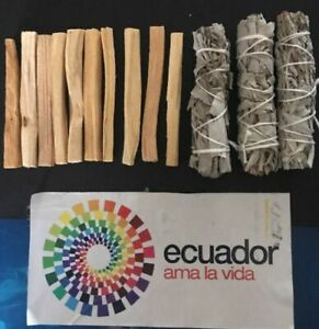 10-Palo-Santo-Wood-amp-3-White-Sage-Smudge-Sticks-Cleansing-Negativity-Removal