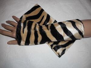 Stulpen Armstulpen Pulswärmer Tiermuster Animal Zebra Fasching Gutes Renommee Auf Der Ganzen Welt Damen-accessoires Sinnvoll E15 Kleidung & Accessoires