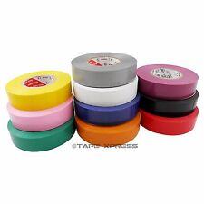 10 Rolls Rainbow Vinyl Pvc Electrical Tape 34 X 66 Adhesive Free Shipping