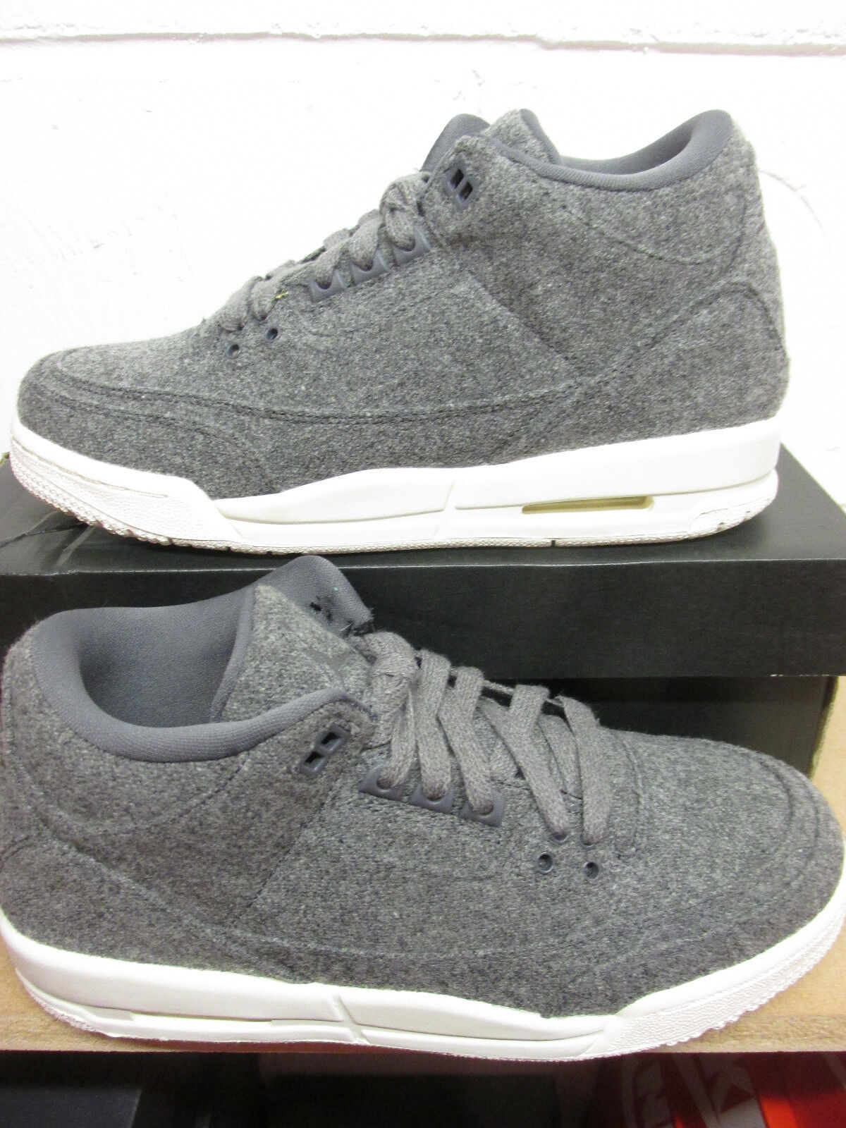 Nike Air Jordan 3 Retro Wool BG Hi Top Trainers 861427 004 Sneakers Shoes Seasonal clearance sale