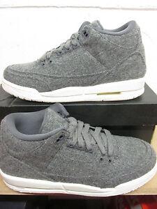 ed9188caa75 Nike Air Jordan 3 Retro Wool BG Hi Top Trainers 861427 004 Sneakers ...