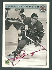 John Ferguson Montreal Canadiens 1992 Ultimate Original Six Auto Card #9