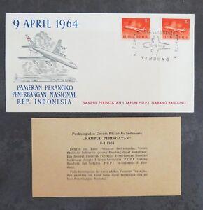 INDONESIE-1964-FDC-Pameran-Perangko-Penerbangan-Nasional-Indonesia-Bandung