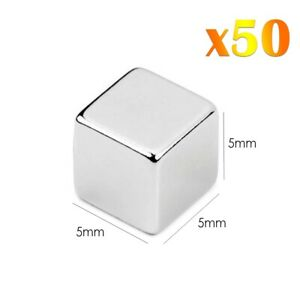 50-x-Neodymium-Cube-Magnets-Super-Fort-Magnetic-Block-Rare-Terre-NdFeb-N42