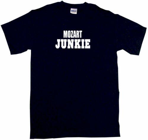 Mozart Junkie Mens Tee Shirt Pick Size Color Small-6XL