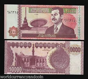 Image Is Loading Iraq 10000 10 000 Iraqi Dinars 2002 Saddam