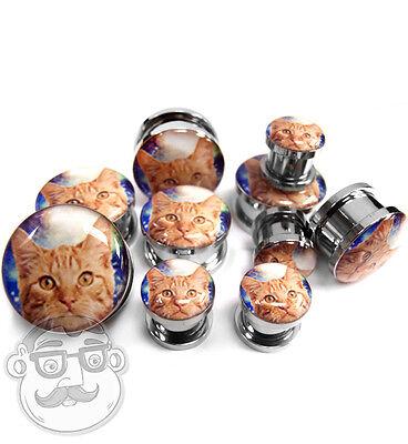 "1 Pair of Space Cat Plugs / Gauges Sizes( 2G - 3/4"") - New!"