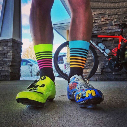 DH Sport Cycling Socks Men Women Professional Breathable Sports Bike Socks Hot