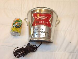VINTAGE-1960S-MILLER-HIGH-LIFE-CHAMPAGNE-OF-BOTTLED-BEER-BUCKET-WALL-LIGHT