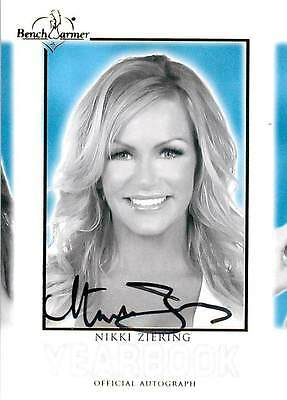 Non-sport Trading Cards Nikki Ziering 2014 Bench Warmer Hot For Teacher Autograph Auto Yearbook B&w Pleasant In After-Taste