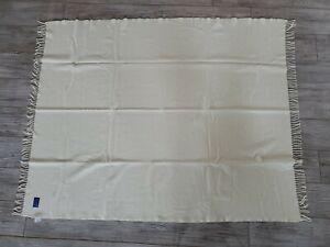 NWOT-Pendelton-Throw-Blanket-White-Fringe-Ends-100-Pure-Virgin-Wool