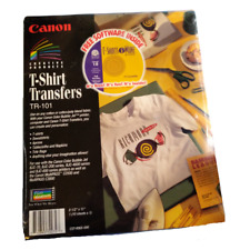 New Listingcanon T Shirt Transfers Tr 101 10 85 X 11 Sheets Software Iron On Paper