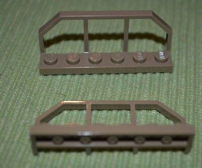 Dark Tan 1x6x2 Handrail Fencing Bricks ~ Lego ~ NEW ~ Train 2