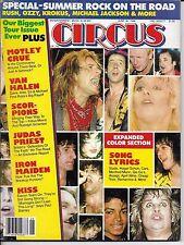6/30/84 CIRCUS magazine  KISS  Iron Maiden  Van Halen  Scorpions  Motley Crue