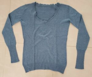Pull taille 36 gris-bleu