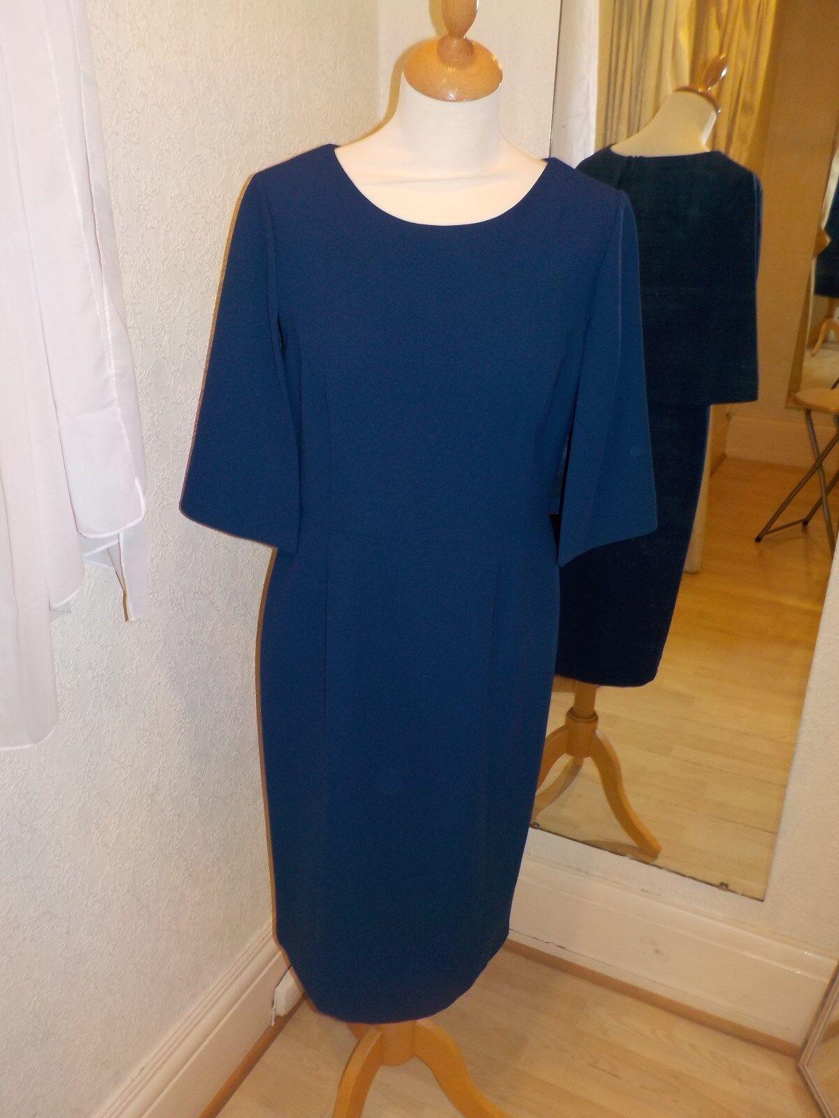 Ella Boo Navy Plain Stil Kleid 2459