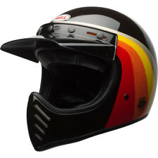 Black//Gold//Medium Bell Chemical Candy Adult Moto 3 Off-Road Motorcycle Helmet