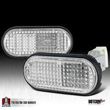 Fit 1992 1995 Honda Civic Flat Clear Fender Side Marker Lights Lamps Left Right