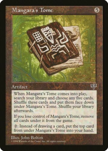Mangara/'s Tome Mirage PLD Artifact Rare MAGIC THE GATHERING MTG CARD ABUGames