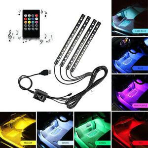 7-Color-RGB-LED-Neon-Strip-Light-Music-Remote-Control-Car-Interior-Lighting