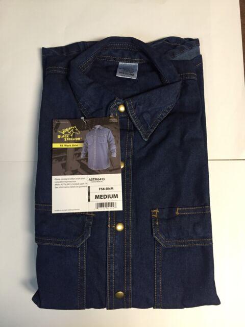 9d92539005ef Revco Fs8-dnm 8oz FR Denim Work Shirt (medium)