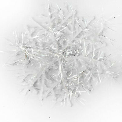 60 Pieces of snowflakes for Christmas tree hanging ornaments 6cm white D3E4