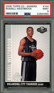 2008-09-topps-co-signers-104-RUSSELL-WESTBROOK-okc-thunder-rookie-card-PSA-9
