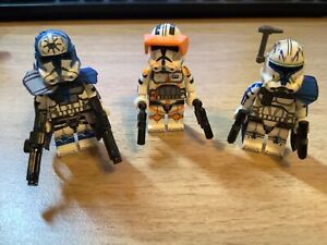 STAR-WARS-Lot-Of-3-NEW-Minifigures-Rex-Cody-Jesse-Clone-WARS-Troopers-US-SELLER