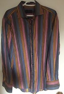 Etro-Men-039-s-Striped-Dress-Shirt-Size-42-100-cotton-Made-in-Italy