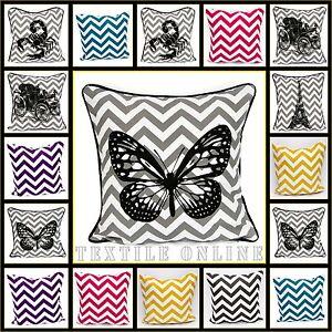 Chevron-Stylish-Cushion-Cover-100-Cotton-Decorative-Pillow-Cases-12x18-amp-18x18