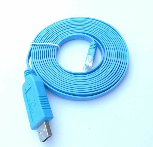 Switch FTDI RS232 Serial RJ45 CAT5 Console Cable Router Blue USB