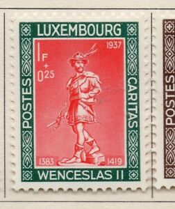 Luxembourg-1937-Early-Issue-Fine-Mint-Hinged-1F-Charity-Issue-241864