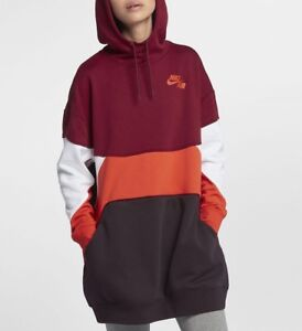 Nike-Air-NSW-Oversized-Hoodie-Dress-AH7626-677-Multi-Coloured-Size-XS-S-New